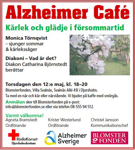 Alzheimer Café den 12 maj